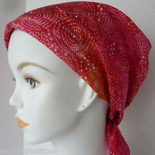 Fun Swirl Batik Alopecia Cancer Chemo Hair Loss Head Scarf Turban Head Wrap Cap