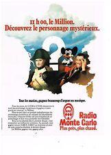 PUBLICITE ADVERTISING  054  1979  RMC radio  LE MILLION personnage mystérieux