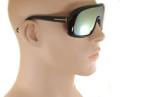 TOM FORD SVEN TF471 96G Mens X-LARGE SHIELD Sunglasses OLIVE GREEN FLASH MIRROR!
