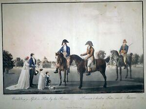 Radierung, Reiter im Prater in Wien, W.v. Kobell/ A. v. Bartsch, 1804, R 305