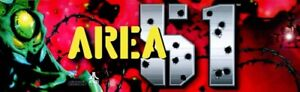 """Area 51 Dedicated Arcade Marquee – 26″ x 8″ (Available in 28"""" x 7.5"""")"""