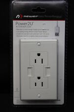 NEW Newer Technology Power2U AC/USB 15A White Wall Outlet w/2 USB Charging Ports