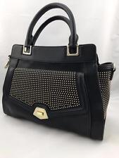 Nine West Sadie Collection Top Handle Satchel Handbag Black w/Gold Beads - NWT