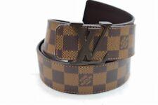 Authentic Louis Vuitton Belt Ceinture Initials Damier Brown M9807 110/44 1204555