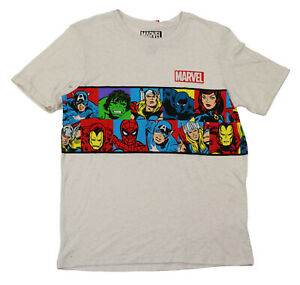 Hybrid Apparel Marvel Superhero Vintage Style Short Sleeve T-Shirt XL/18-20 NWT