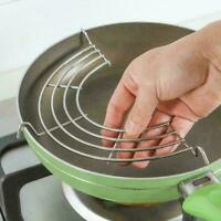 Semi Circular Steam Rack Stainless Steel Oil Drain Tool Cooking Top B6H2 I6I8