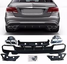 Mercedes Benz E class W212 AMG E63 REAR DIFFUSER with EXHAUST TIPS Muffler