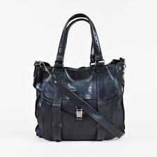 "Proenza Schouler $1995 Black Leather Flap Pocket Multi Strap ""PS1 Tote"" Bag"