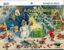 Nostalgie im Advent von Fritz Baumgarten Historischer Adventskalender Reprint