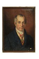 KLEMENS VON METTERNICH (1773-1859) RITRATTO / OLIO SU TELA EPOCA XIX SECOLO