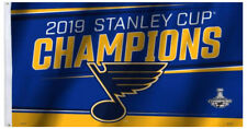 Rare Edition - ST. LOUIS BLUES 2019 STANLEY CUP CHAMPIONS Huge 3'x5' Banner FLAG