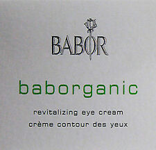 Babor Baborganic Revitalizing Eye Cream 15ml Brand New