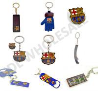 FC Barcelona Keyring Badge Bag Charm Door Key Bottle Opener Torch Leather Gift