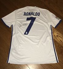 Genuine Hand Signed Cristiano Ronaldo New 2016/17 Real Madrid Shirt & COA