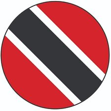 "Trinidad & Tobago Flag - Cake Topper 8"" 20cm Circle Icing Decoration Party"