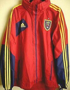 MLS Adidas Real Salt Lake Soccer Hooded Rain Jacket XL NWT 6968A