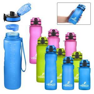 VERCO Premium Trinkflasche Sport Flasche Wasserflasche Sieb BPA Frei Wasser Fit