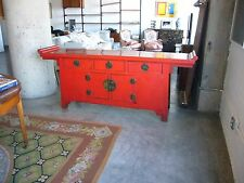 19th Century Chinese red lacquer antique cabinet/chest