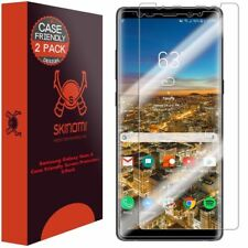 [2-Pack] Skinomi TechSkin Clear Screen Protector for Galaxy Note 8 Case Friendly