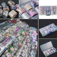 Flower Transfer Manicure Decor Nail Foil Nail Art Stickers Holographic Gift F7O7