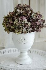 Übertopf Blumentopf Metalltopf Shabby Chic Vintage Landhaus Brocante