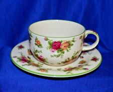 Tea Cup & Saucer Set - Old Country Roses Cream (Green Trim) By ROYAL ALBERT