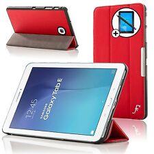 Piel Rojo Funda Samsung Galaxy Tab Dell 9.6 T560 Protector De Pantalla