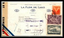 GP GOLDPATH: CARIBBEAN COUNTRY COVER 1943 REGISTERED LETTER AIR MAIL _CV523_P20