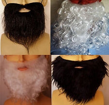 FANCY DRESS BEARDS. BLACK, WHITE, CURLY STRAIGHT, GNOME. WIZARD. DWARF UK SELLER
