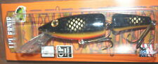 "6"" Jointed Little Ernie Musky Mania Muskie Pike Crankbait Black Perch JLE-04"