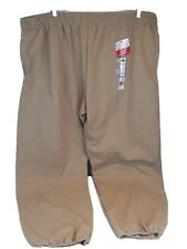 NWT Fruit Of The Loom Big Mens 3XL Active Athletic Beige Sweat Pants w/Pockets