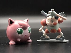 "Vintage Pokemon Jigglypuff with Mr Mime 1.5"" Figures Tomy CGTSJ Nintendo 1990s"