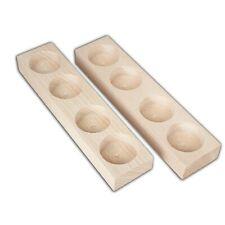Wooden Quadruple Tea Light holders, Set of 2, - Decoupage / Unpainted