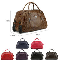 Ladies LYDC Croc Holdall Trolley Bag Weekend Bag Hand Luggage Holiday Travel Bag