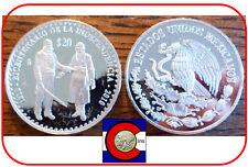 1810-2010 Hidalgo y Morelos 20 Peso Mexico Coin - 2oz Silver in airtite