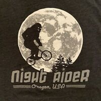 Little Bay Root Night Rider Bigfoot Meets ET Portland Oregon T-Shirt Men's XL
