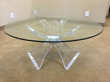 Lucite Coffee Table in the Style of Lion in Frost (Glass Top Not Included)