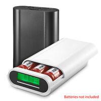 Portable 3 Slot 18650 Battery Charger Box 5V/2.5A Phone Power Bank LCD Display