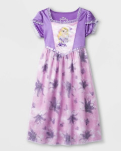Disney Rapunzel Toddler Girl Dressup Nightgown Purple Flower Princess 3T NEW