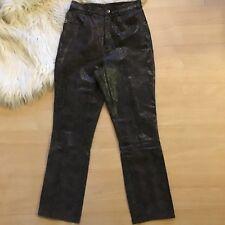 "Genuine Leather Snakeskin Pants By Lucid LTD 27"" Waist"