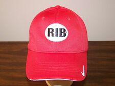 Nike Golf RIB Red Stretch Fit Baseball Hat Cap - Preowned - Small to Medium