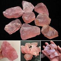 1x Natural New Pink Rose Quartz Crystal Irregular Shape Specimen Healing Stones