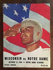 "1944 Wisconsin v Notre Dame Football Program-""LON KELLER'S MOST FAMOUS WAR COVER"