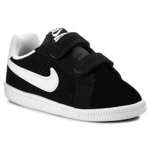 Nike Court Royale (TDV) Toddler Shoes Black/White 833537 002 Free Shipping