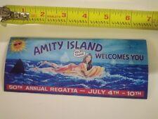 Vintage Looking Jaws movie Amity Island * Refrigerator Magnet *