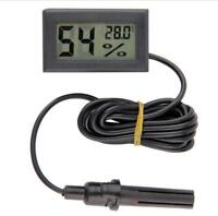 Mini Digital LCD Thermometer Hygrometer Humidity Temperature Meter Indoor +Cable