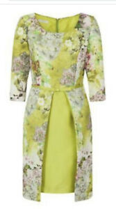 Carla Ruiz Size 12 93625 Green Floral Print Wedding Special Occasion Dress New