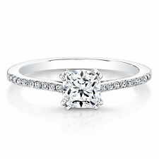 0.69 CT Natural Diamond Engagement Ring Fine 14KT White Gold Size O M N P