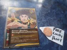 NARUTO CARD # 637 Flower shuriken: Burning Petals and fallen leaves +LUCKY PENNY