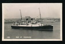 Channel Islands Isle of GUERNSEY Shipping Steamer Unused RP PPC Dunkirk + D-Day